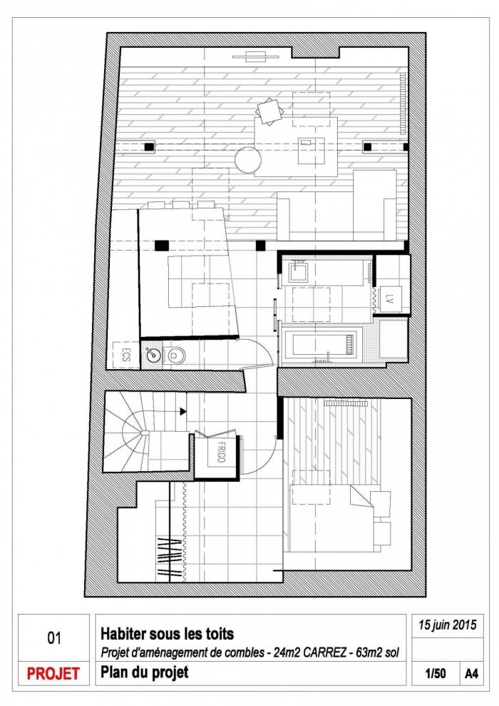 mansardos renovacija planas