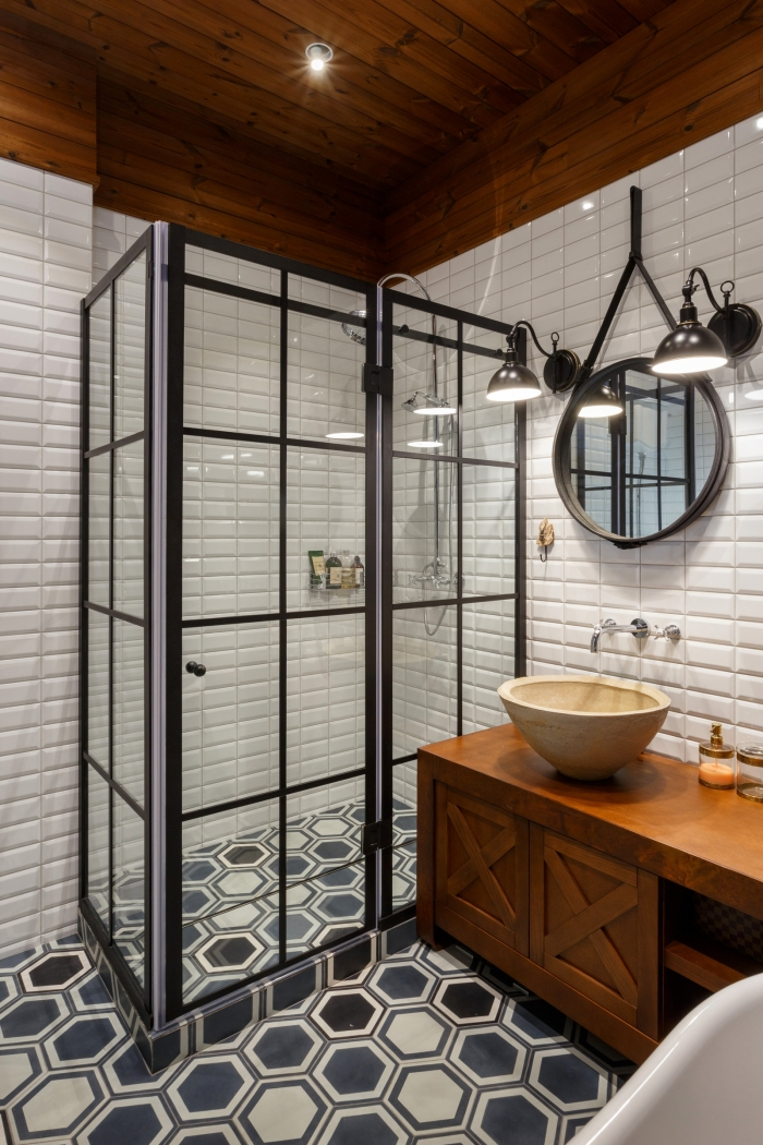 hexagon tiles bathroom