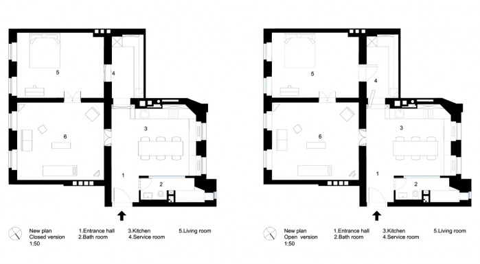 85 sq.m apartment plan