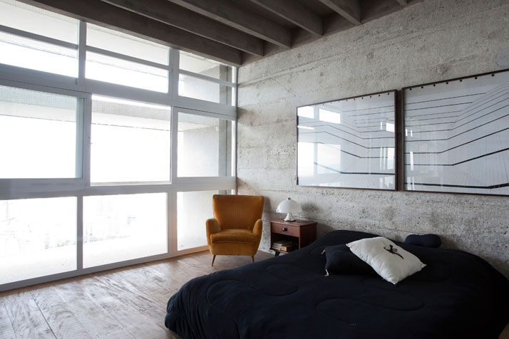 loft bedroom interior