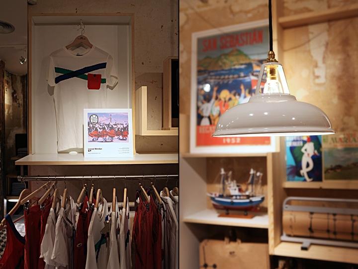 drabužių parduotuvė interjeras