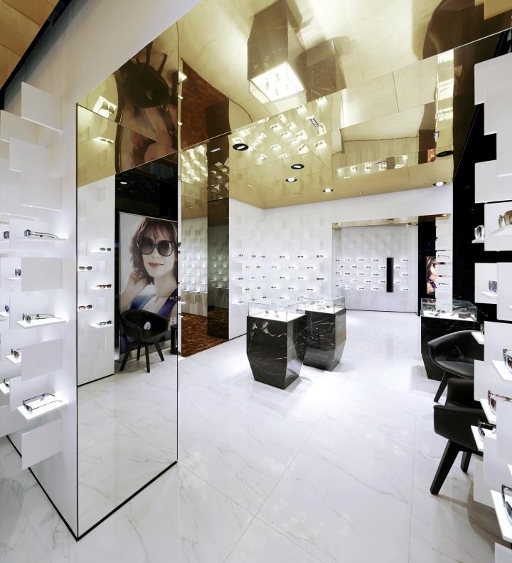 modern eyewear store