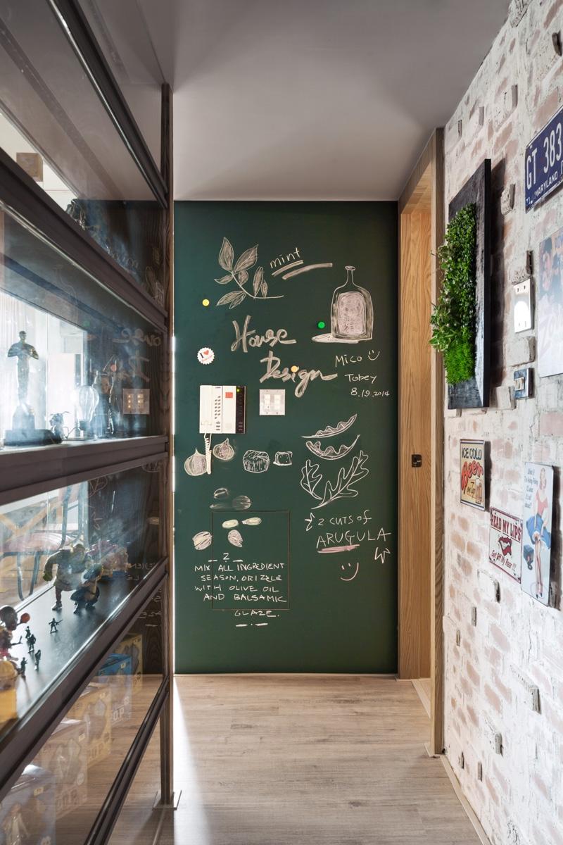 žalia kreidinė siena