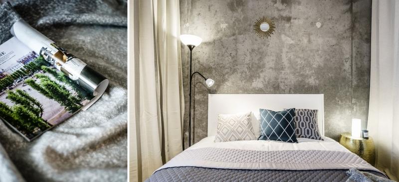 betonas miegamajame