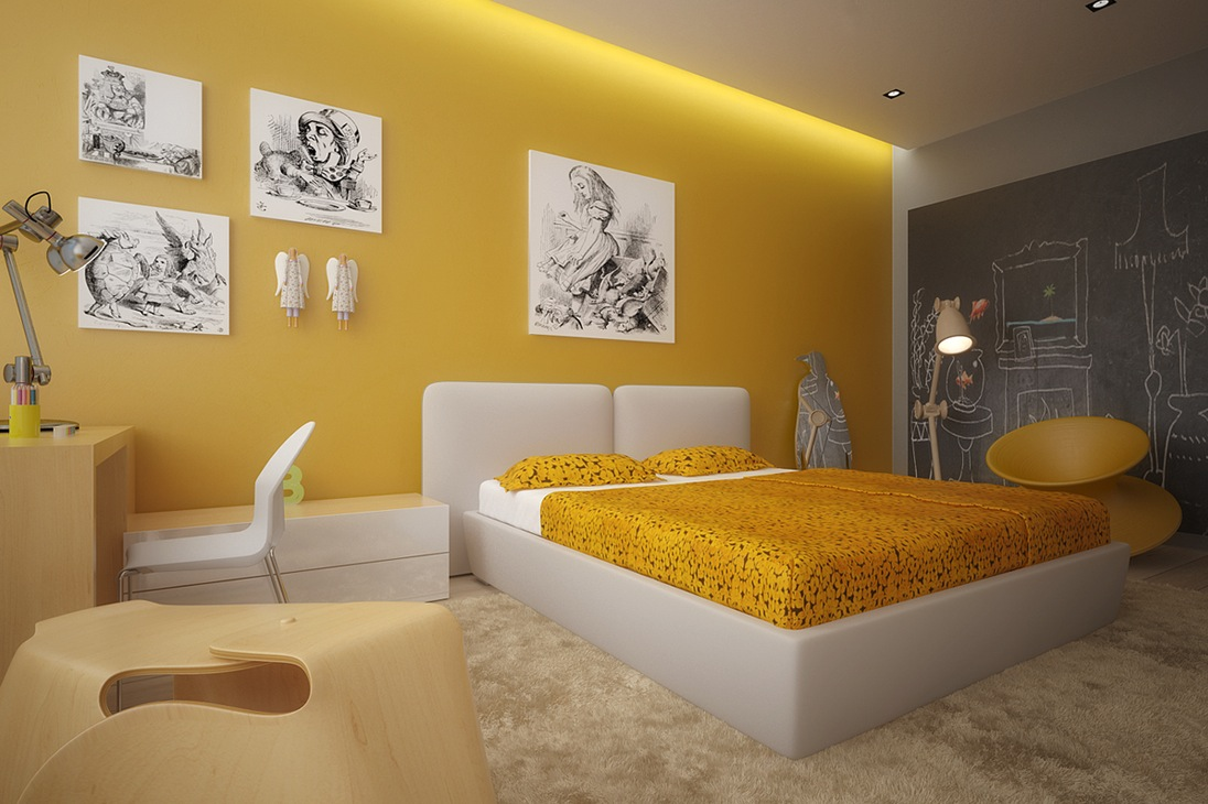 bedroom colors 2012. home-designing.com · teenager\u0027s room yellow bedroom colors 2012 t