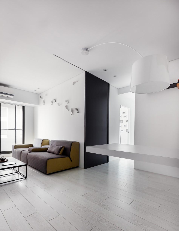 Extremely modern and minimalistic flat viskas apie interjer for Modern minimalist apartment interior