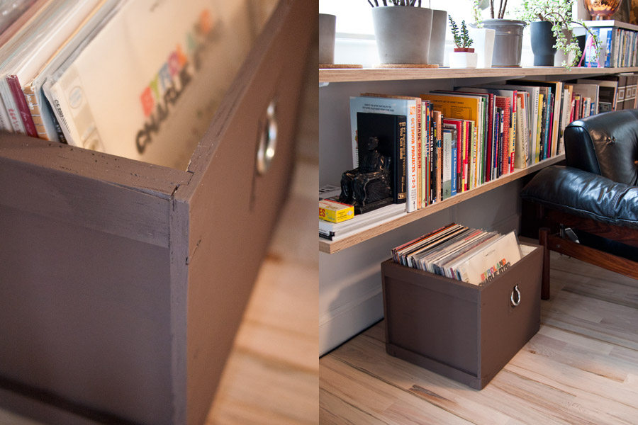 Woodandfaulk.com · Box For Vinyl Records · Theselby.com · Vinyl Records  Storage Ideas