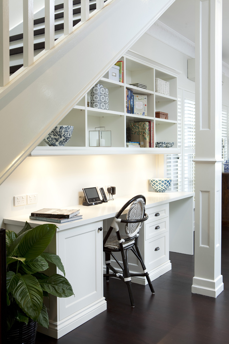 under stairs office. Pinterest.com · Working Table Under Stairs Office L