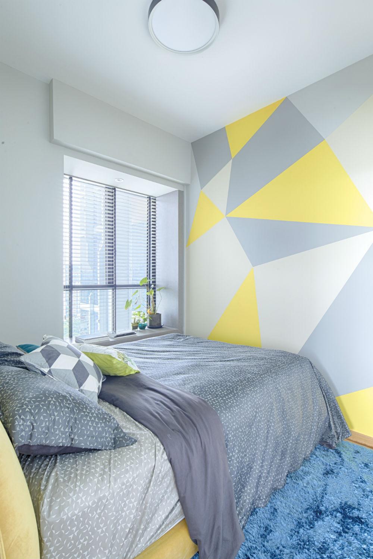 geometric wall paintGeometric wall painting ideas  Viskas apie interjer