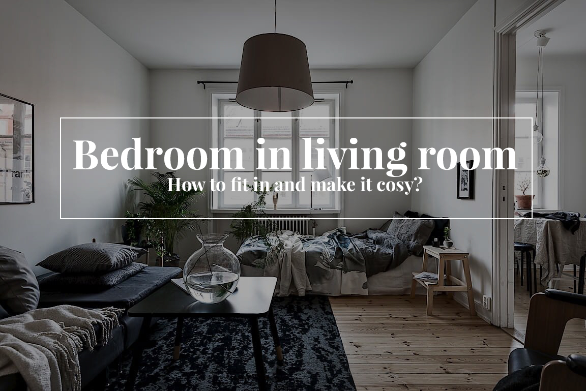 Bedroom in living room how to fit in and make it cosy viskas gravityhometumblr aloadofball Images