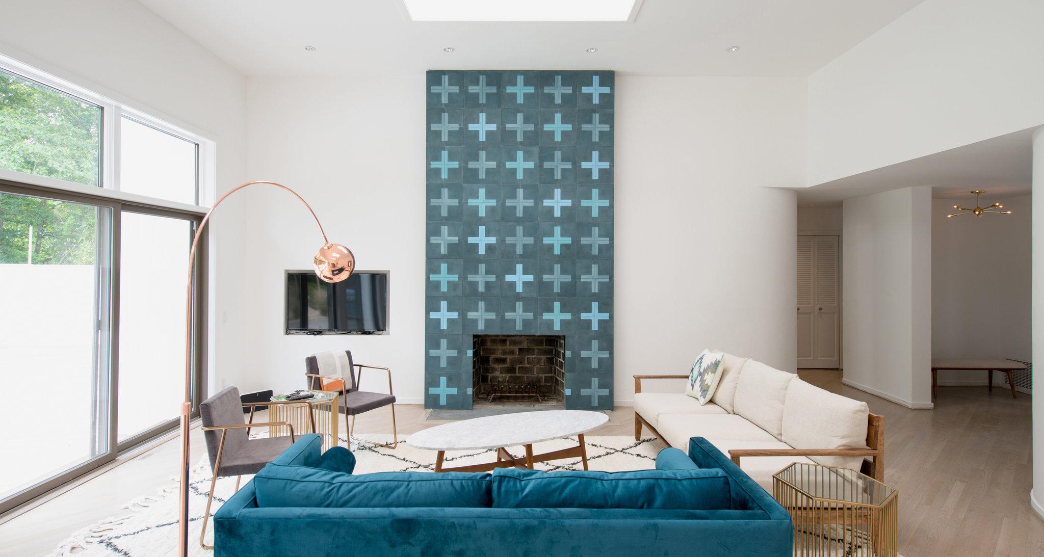 Tiles around fireplace - different fireplace finish - Viskas apie ...