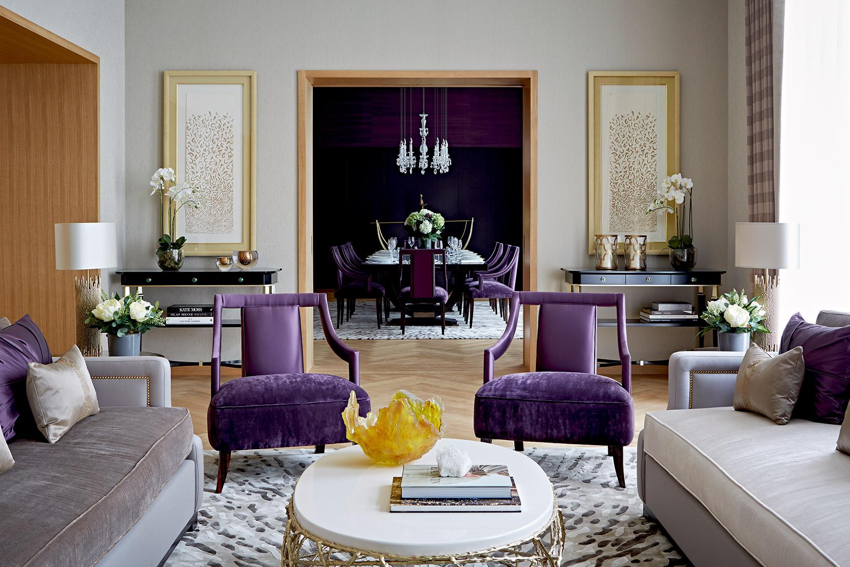 ultra violet pantone color of the 2018 viskas apie interjer - Violet Hotel Design